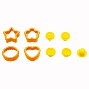 クッキー型 抜き型 アンパンマン 4個セット プラスチック製 キャラクター