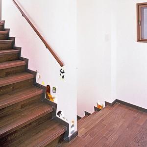 ウォールステッカー あにまるらいふ 階段