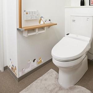 ウォールステッカー あにまるらいふ トイレ