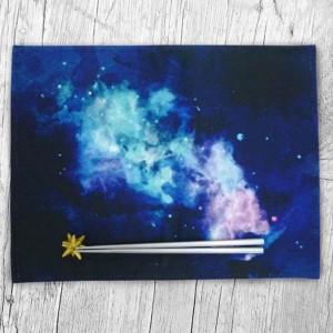 ランチョンマット プレイスマットセット 星と宇宙 箸&箸置き付き