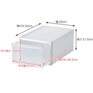 収納ケース 引き出しタイプ クローゼット収納 引き出し 高さ21cm 日本製 同色3個セット ( 収納ボックス )
