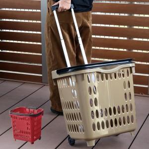 キャリーカート ビッグキャリングバスケット・ロック式 ( ショッピングカート 買い物カゴ バスケット 台車 買い物キャリー キャリー カ