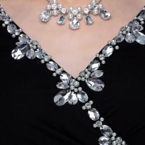 ドレープロングスリットドレス [キャバ ミニ ドレス 大きいサイズ ソブレ キャバドレス 179303]