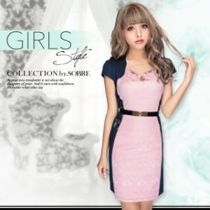 【SALE】 細魅せジャカードニットワンピース 161500[キャバ ミニ ドレス 大きいサイズ ソブレ キャバドレス タイト]【返品不可】