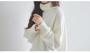 ❤ニット・セーター❤無地 ニット トップス カジュアル タートルネック 大きめ セーター