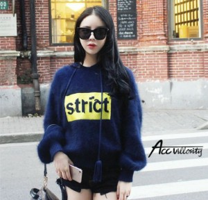 パーカー❤ニット フード 袖あり 長袖 ふわふわ もこもこ 韓国 オルチャン 可愛い 通学 プルオーバー 普段着