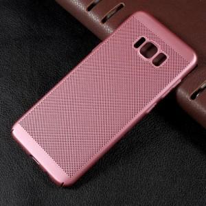 Galaxy S8 Plus ハードケース ローズゴールド 強化ガラス保護フィルム付き ギャラクシーS8 プラス 背面型耐衝撃 超薄軽量