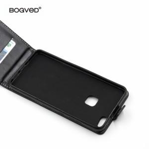 Huawei P10 Lite レザーケース ローズ 強化ガラス保護フィルム付き ファーウェイ P10 Lite カバー 手帳型ICカードスロット