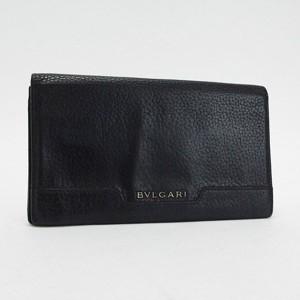 2d6ef395fb3b ブルガリ アーバン レザー 二つ折り長財布 ブラック 中古 Bランク BVLGARI   メンズ ウォレット 財布 ブランド