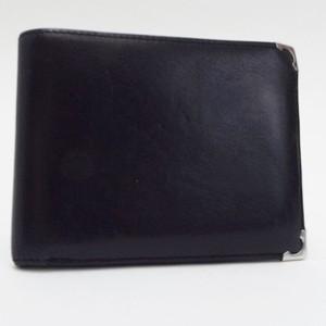 3da3753da957 カルティエ カボションライン 二つ折り財布 レザー ブラック 中古 Bランク Cartier |ブランド メンズ 男性用コンパクト 小ぶり