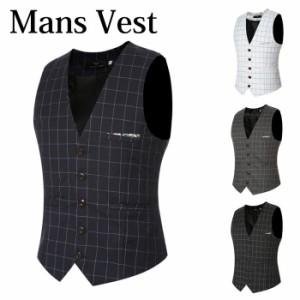 0249e290e513b ベスト メンズ チェック ジレメンズ 紳士服 ビジネス スーツベスト スーツ地 レギュラー 4color テーラードベスト ジ レベスト スー