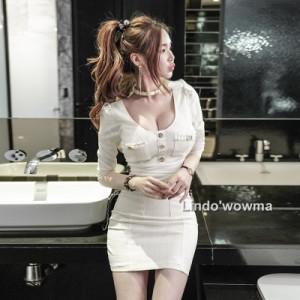 レディース2019 ドレス ボディコンワンピースタイトドレス 女性らしい シンプル&美シルエット