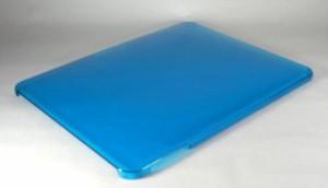 iPad1 ケース クリア ハード 無地 (ブルー)