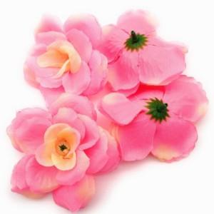 造花 バラ 花のみ 8センチ 50個 (ライトピンク)