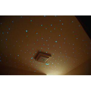 ウォールステッカー 暗い所で光る 星 (2cm×121枚)