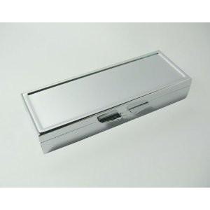小物入れ ミニサイズ 長方形 シンプル 金属製 (仕切り3個)