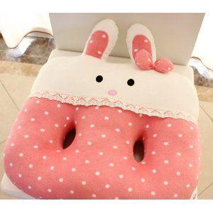 座布団 ウサギさん ピンク ドット柄