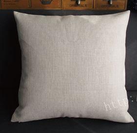クッション デニムブルー × ホワイト 45×45cm (クラウン)