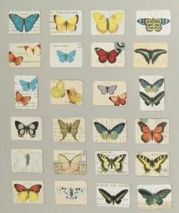 マグネット アンティーク風 蝶々 ちょうちょ バタフライ ミニサイズ 24個入り