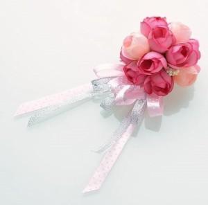 【お取り寄せ】コサージュ バラ つぼみ ミニ 造花 (ローズピンク)