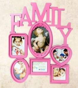 フォトフレーム Family ユニーク ピンク