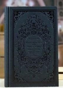 ノート ヨーロピアンクラシック 洋書風 B6サイズ (ブラック)