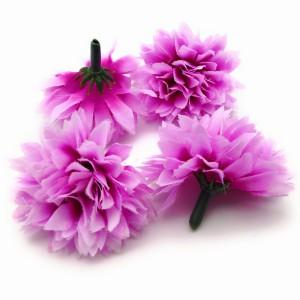 造花 菊 ミニサイズ 花のみ 4センチ 100個 (パープル)