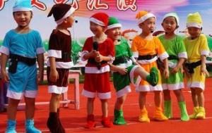 コスチューム 七人の小人風 衣装 6点セット 120cm (ライトグリーン)