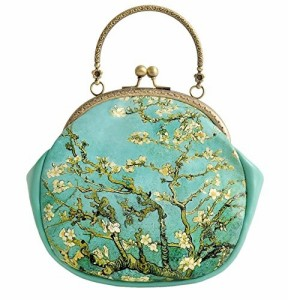 【お取り寄せ】2wayバッグ 和モダン グリーン 美しい樹 がま口