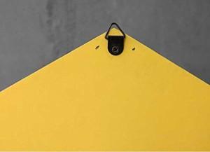 【お取り寄せ】壁掛けオブジェ レトロなおうち型 HOME ワイヤーラック付き (レッド)
