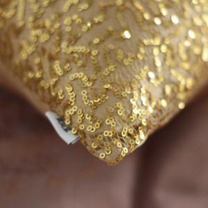 【お取り寄せ】クッションカバー キラキラ スパンコール ゴールドカラー