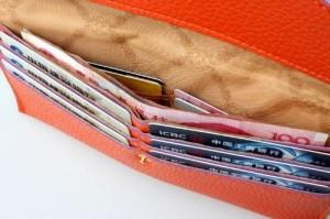 財布 二つ折り カードケース シンプル 小銭入れなし (アクアブルー)