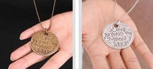 【お取り寄せ】ネックレス ペア アンティーク風 コイン型 LOVE シルバー ブロンズ 2個セット