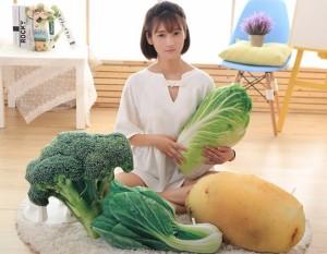 クッション リアル 野菜 ベジタブル (青菜)