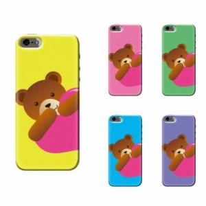 iPhone 7 ケース iPhone 7 スマホケース クマハート01 送料無料 アイフォン 7 ハードケース docomo