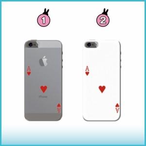 iPhone 7 Plus ケース iPhone 7 Plus スマホケース トランプハートのエース 送料無料 アイフォン 7 プラス ハードケース iPhone