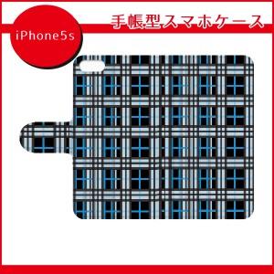 スマホケース 手帳型 全機種対応/iPhone7ケース/アイフォン7ケース/SO-03G/チェック柄(ブルー)/手帳型スマホケース/ql332-c0080/iPhone6/