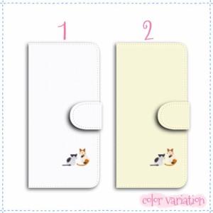 AQUOS PHONE si 手帳型 スマホケース SH-07E ケース 二匹のネコ 送料無料 アクオスフォン si