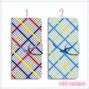 iPhone SE 手帳型 スマホケース iPhone SE ケース 分厚い白革 チェック/カモメマリン 送料無料 アイフォン SE