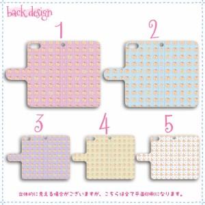 isai 手帳型 スマホケース LGL22 ケース ドット×りんご 送料無料 イサイ