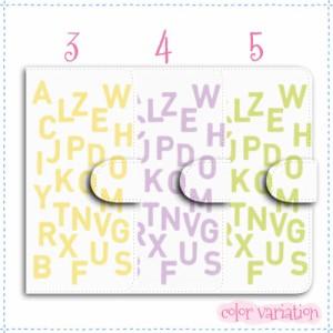 DIGNO W 手帳型 スマホケース KYV40 ケース アルファベット柄 送料無料 ディグノ W