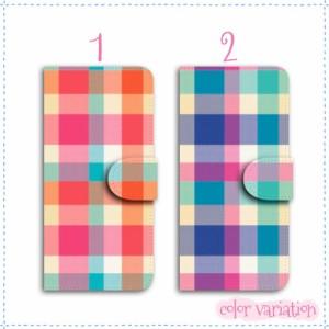 iPhone SE 手帳型 スマホケース iPhone SE ケース 分厚い白革 マドラスチェック 送料無料 アイフォン SE