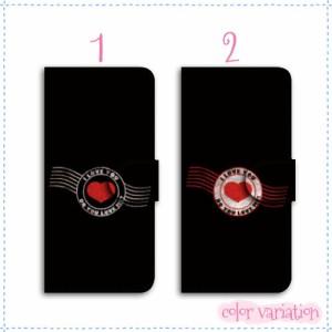 iPhone SE 手帳型 スマホケース iPhone SE ケース ハートスタンプ01 送料無料 アイフォン SE