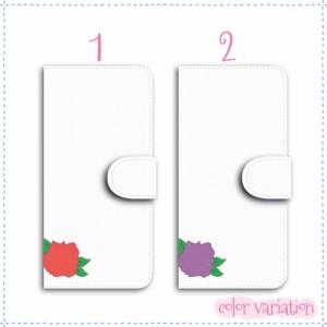 iPhone 6 手帳型 スマホケース iPhone 6 ケース 分厚い白革 バラ 送料無料 アイフォン 6