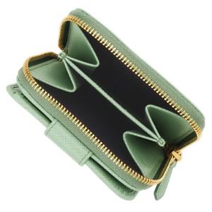プラダ PRADA 二つ折り財布 サフィアノレザー 1ml522safmet
