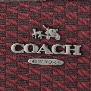 【セール】コーチ COACH ラウンドファスナー長財布  ブラッドレッド ジャガード×レザー f13677qbl7c アウトレット