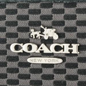 【セール】コーチ 財布 COACH ラウンドファスナー長財布 グレー×ブラック ジャガード×レザー f13677sgybk アウトレット