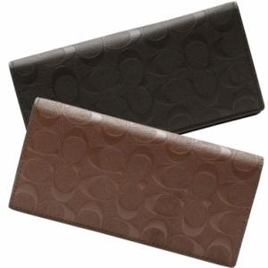 59b7d01690c5 コーチ 財布 メンズ 二つ折り ブランド コーチ 二つ折り長財布 アウトレット COACH f75365