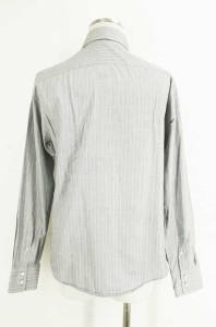 JIL SANDER(ジルサンダー) ストライプボダンシャツ 40 ホワイト × グレイ メンズ【バズストア 古着】【中古】
