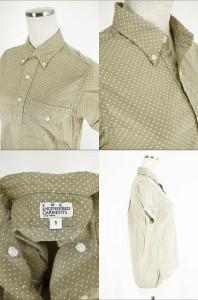 FWK engineered garments(エフダブリューケーエンジニアードガーメンツ) ドット柄半袖プルオーバーシャツ 1 ホワイト × ベージュ レディ
